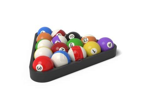 3d rendering of many billiard