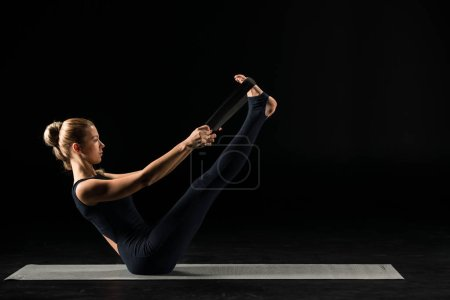 Woman practicing yoga