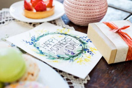 Gift box and greeting card