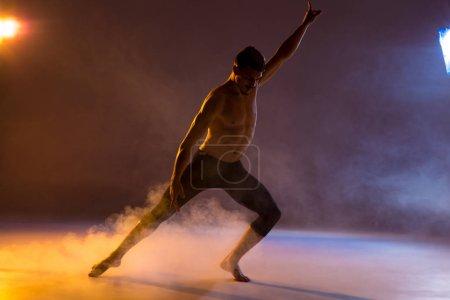 Young man dancing