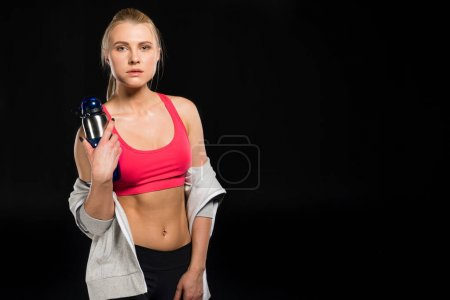 Woman in sports clothing