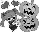 The Halloween illustration