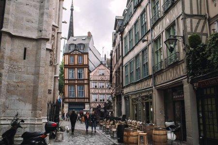People at street in Rouen