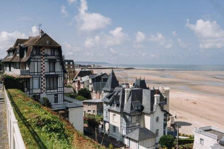 Trouville sur Mer beach promenade