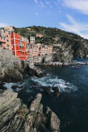 Scenic view of colorful village Vernazza