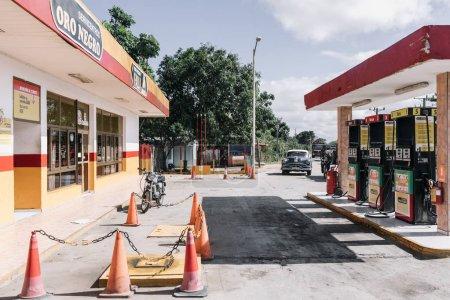 Sancti Spiritus, Cuba - January 10, 2017: Highway petrol station