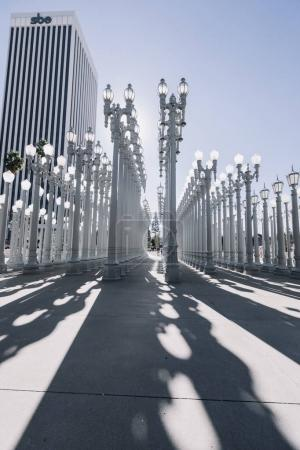 Urban Light sculpture at LACMA, Los Angeles