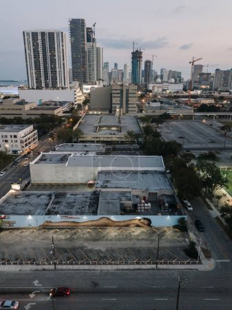Photo for Cityscape of Miami Downtown at dusk, Florida, USA - Royalty Free Image