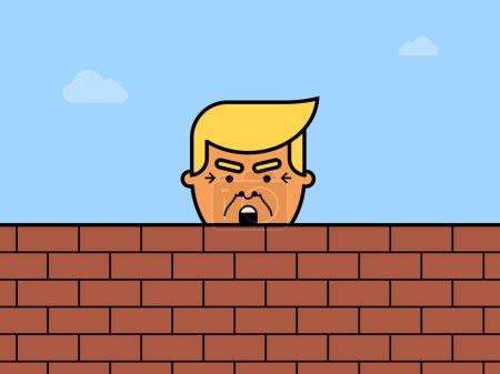 Дональд Трамп за кирпич