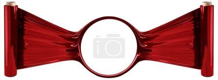 Photo pour Rouge stretch rouleaux de film à fond blanc - image libre de droit