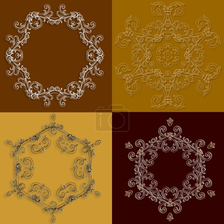 Decorative circle border