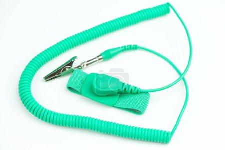 Green antistatic wrist strap
