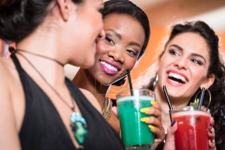 Girls enjoying nightlife