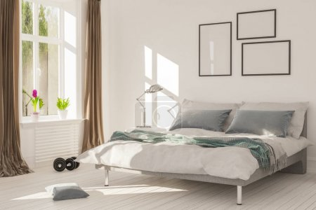 Interior Rendering of bed room