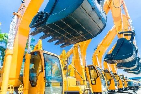 Shovel excavator on Asian machinery