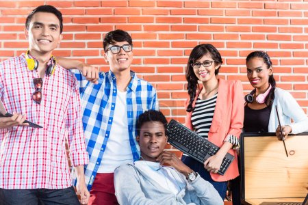 Group of diversity college students