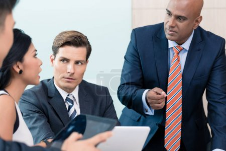 CEO in business meeting
