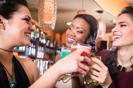 Girls enjoying nightlife in club