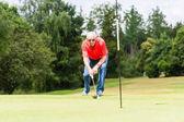 Senior golf player