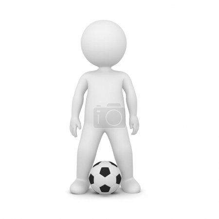 soccer player on white