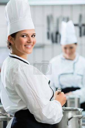 Female chefs at work