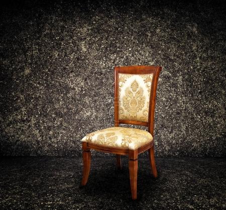 Vintage chair on dark background
