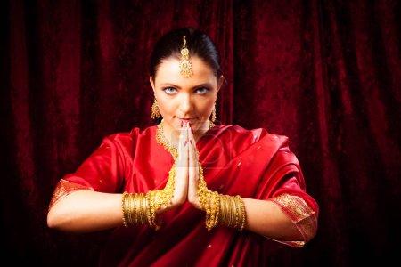 Young Woman Wearing Bollywood-style Sari