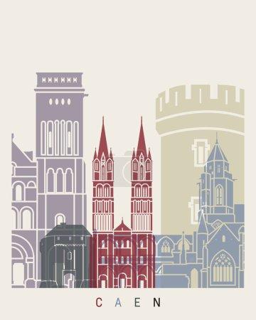 Caen skyline poster