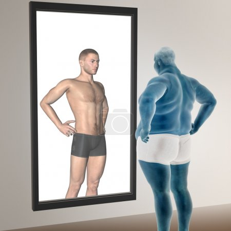 overweight vs slim fit man