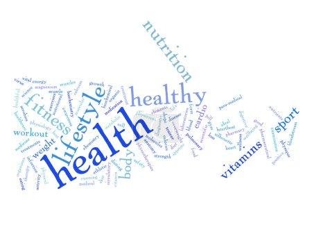 health diet word cloud