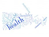 health diet word cloud