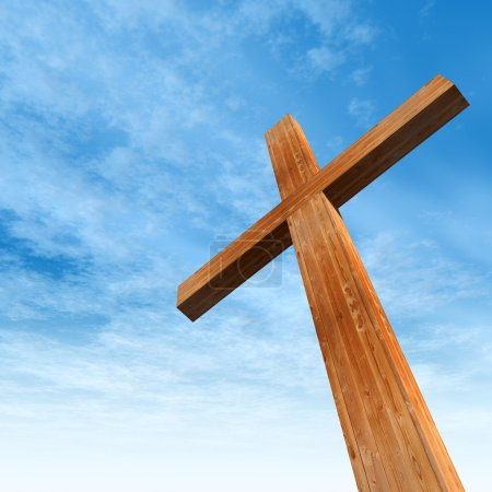 Conceptual wooden cross