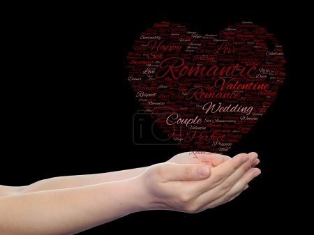 Valentine's Day wordcloud text