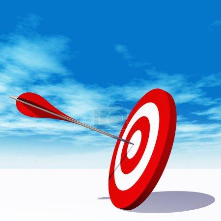 target board with an arrow