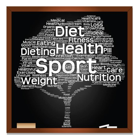 health  text word cloud