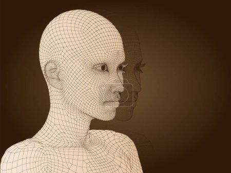 human female head