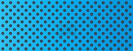 Steel aluminum perforated pattern