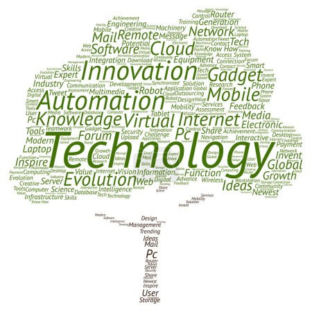 Foto de Concepto tecnología conceptual palabra abstracta nube aislada en segundo plano - Imagen libre de derechos