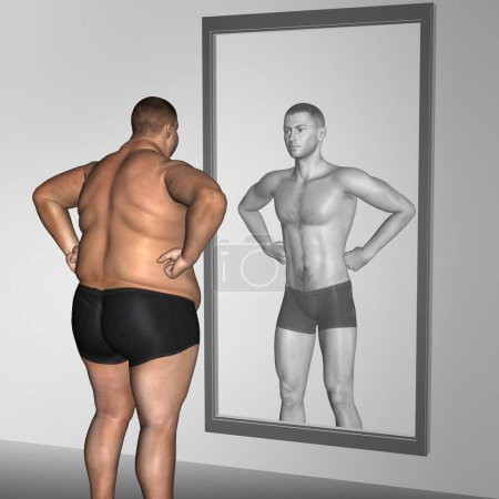 Fat overweight and slim fit