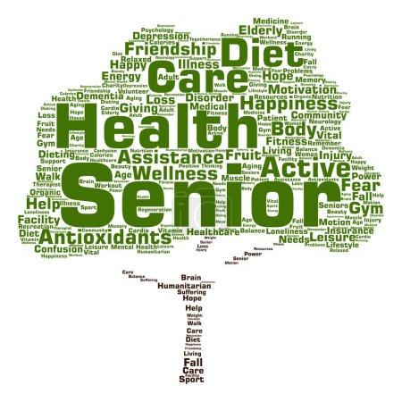 elderly people word cloud