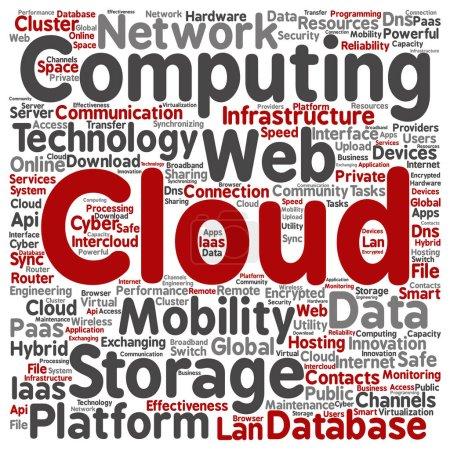Photo pour Technologie de calcul de nuage web conceptuelle - image libre de droit