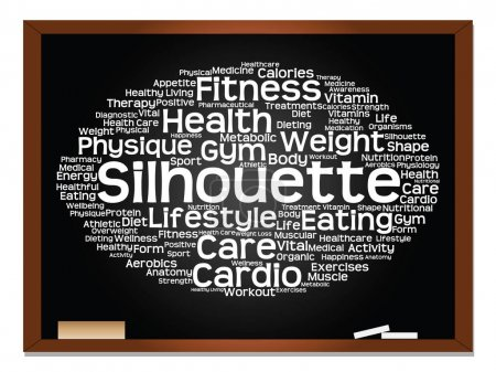 health,and sport word cloud
