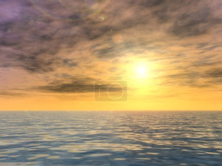 sunrise background with sun