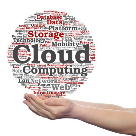 web cloud technology in hands