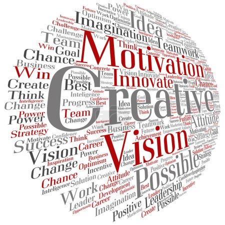 creative business word cloud