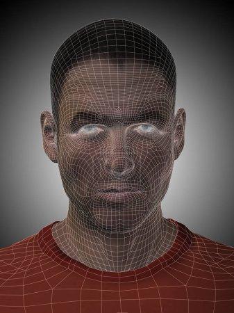 man wireframe head