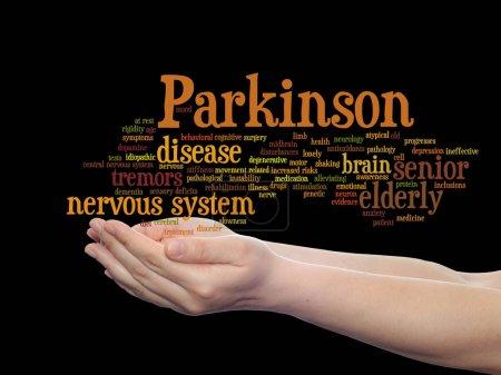 Parkinson`s disease healthcare word cloud