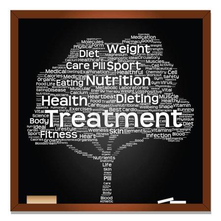 Health diet or sport word cloud