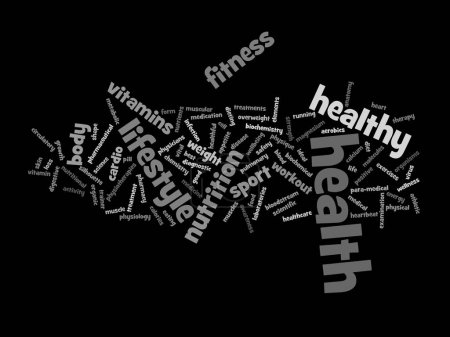 nutrition health abstract word cloud