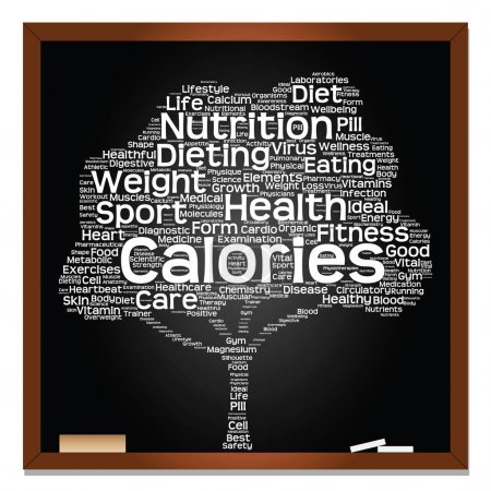 health diet or sport word cloud